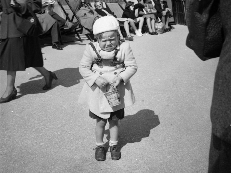 Imagine the tantrums they'll throw, when they find out they're not welcome. This picture taken, circa 1952 shows little Peter Moore throwing a temper tantrum while on a visit to Bournemouth, Dorset. (Evening Standard/Getty Images)