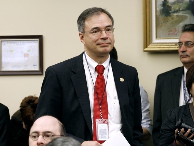 "Freshman Republican Andy Harris of Maryland, pictured just after he was voted into office last November, was one of the Republicans who voted against his party's final debt deal. He says it wasn't large enough and he ""wasn't surprised"" about the downgrade."