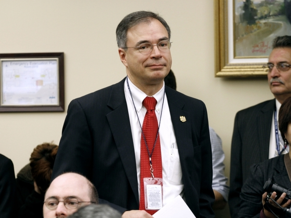 """Freshman Republican Andy Harris of Maryland, pictured just after he was voted into office last November, was one of the Republicans who voted against his party's final debt deal. He says it wasn't large enough and he """"wasn't surprised"""" about the downgrade."""