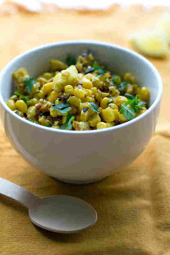 Bread And Corn Salad