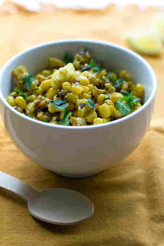 Bread And Corn Salad