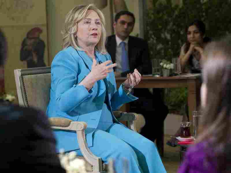 "U.S. Secretary of State Hillary Clinton answers questions during a July 16 appearance on CNN-Turk. Clinton said that the United States was ""concerned"" about media freedom and free speech in Turkey amid the arrest of dozens of journalists and restrictions on the Internet."