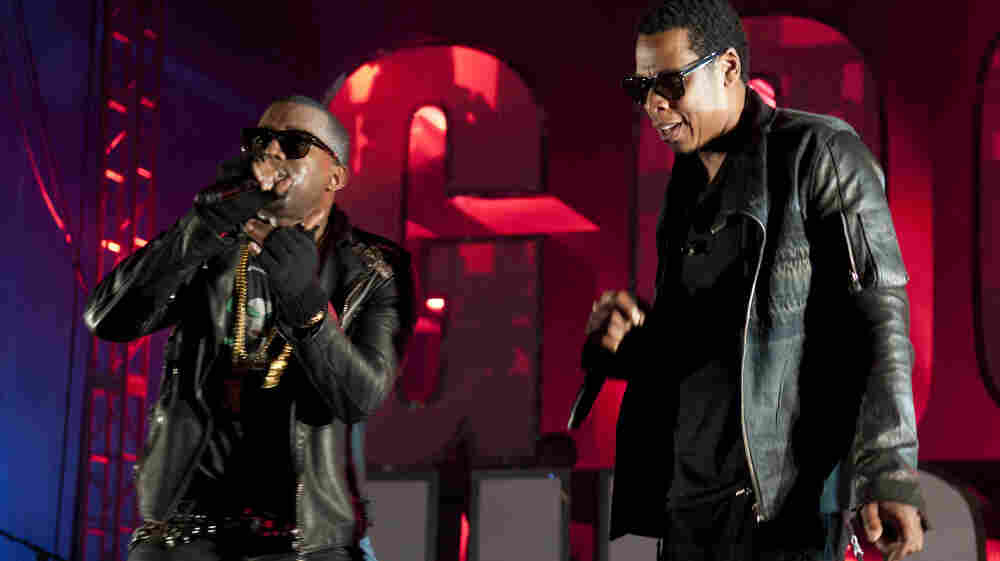 Kanye West and Jay-Z's highly anticipated collaboration made its debut Monday on iTunes.