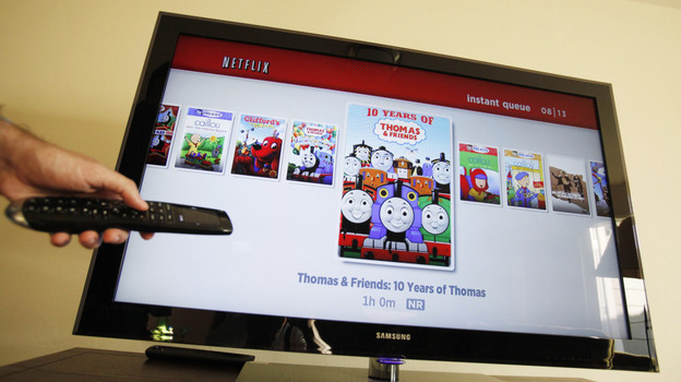 """Netflix boasts that it's the place to go for users to """"watch instantly."""" But licensing fees and deals with other companies prevent it from streaming a good deal of its content online. (AP)"""