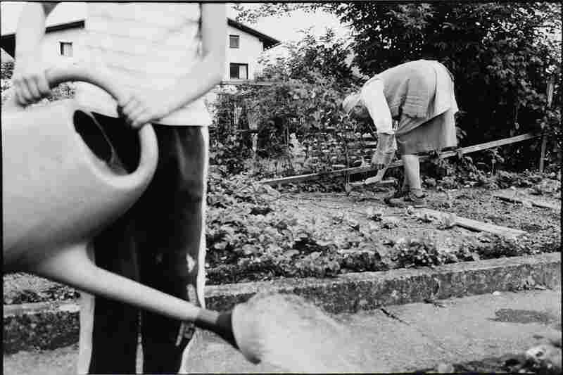 The Widow passing on her gardening skills to Jera, her granddaughter.