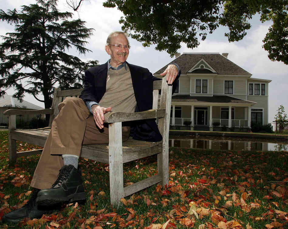 America's new poet laureate, Philip Levine, won the Pulitzer Prize in 1995. Here, he's seen in a file photo at the San Joaquin River Center in Fresno, Calif.