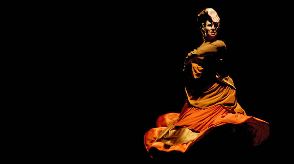 Flamenco dancer Merche Esmeralda performs during a flamenco festival in Jerez, Spain, in 2006.