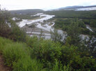 The Tanana River, pictured from the side of the Alaska Highway.