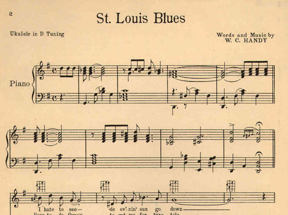 "Sheet music for W.C. Handy's ""St. Louis Blues."""