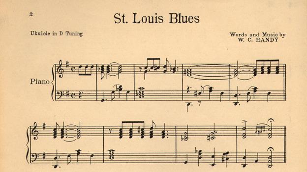 "Sheet music for W.C. Handy's ""St. Louis Blues."" (Wikimedia Commons)"