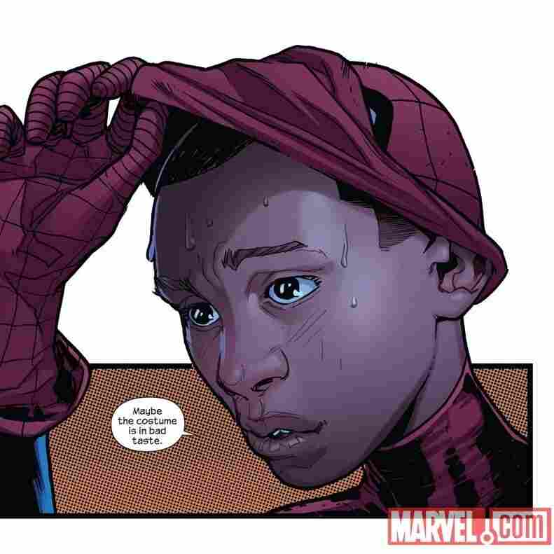 "Miles Morales, half Latino and half African-American, is the new face of Spider-Man in the ""Ultimate"" line of Marvel Comics."