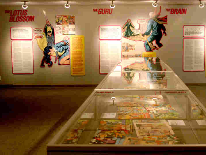 """A look inside the exhibition """"MARVELS AND MONSTERS: Unmasking Asian Images in U.S. Comics, 1942-1986."""""""
