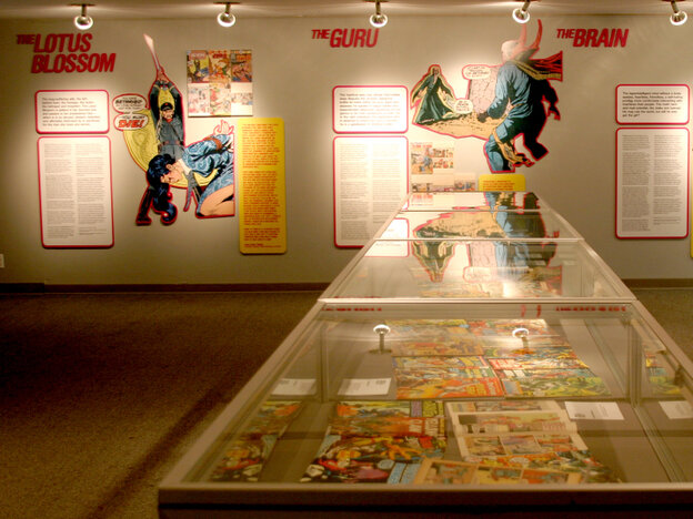 "A look inside the exhibition ""MARVELS AND MONSTERS: Unmasking Asian Images in U.S. Comics, 1942-1986."""