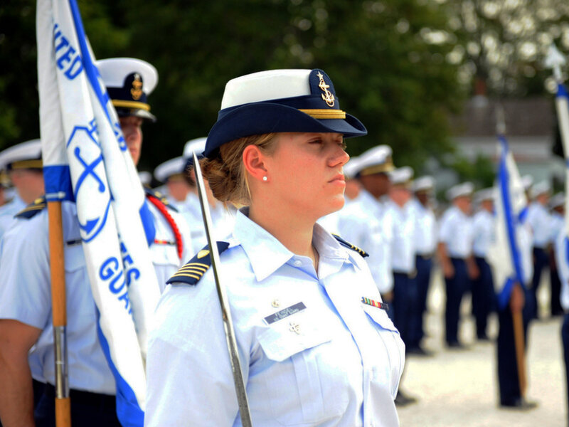 Female coast guard uniform