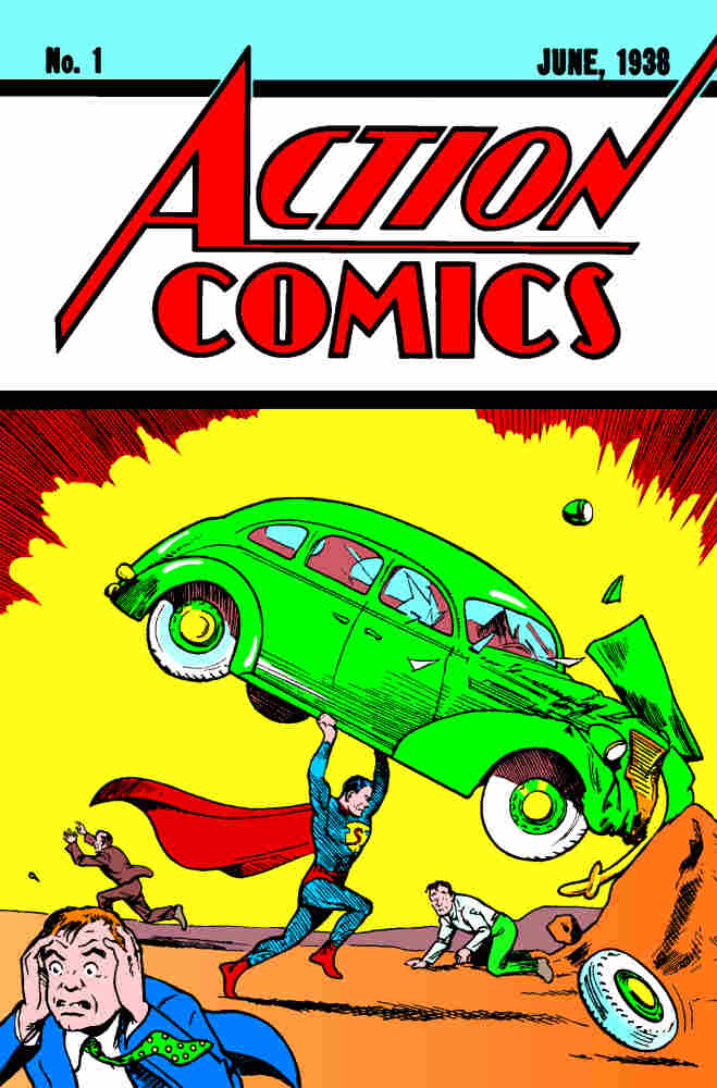 Action Comics #1, published on April 18, 1938, featured the first appearance of Jerry Siegel and Joe Shuster's Superman.