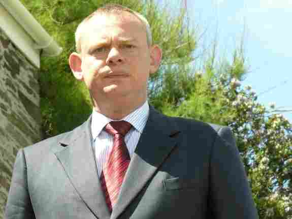Martin Clunes plays Dr. Martin Ellingham, a misanthropic village doctor, in the ITV comedy series Doc Martin.