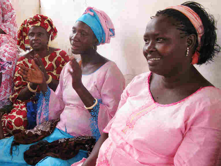 Young women take part in a community health project in the village of Guereo in Senegal.