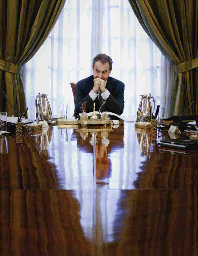 Spanish Prime Minister Jose Luis Rodriguez Zapatero is seen before a Cabinet meeting in Madrid on July 22. Spain is in the midst of an economic crisis.