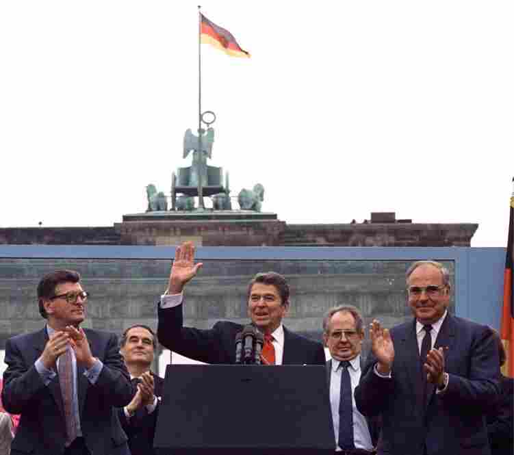 "President Ronald Reagan delivered the famous line ""Mr. Gorbachev, tear down this wall!' while giving a speech in West Berlin on June 12, 1987."