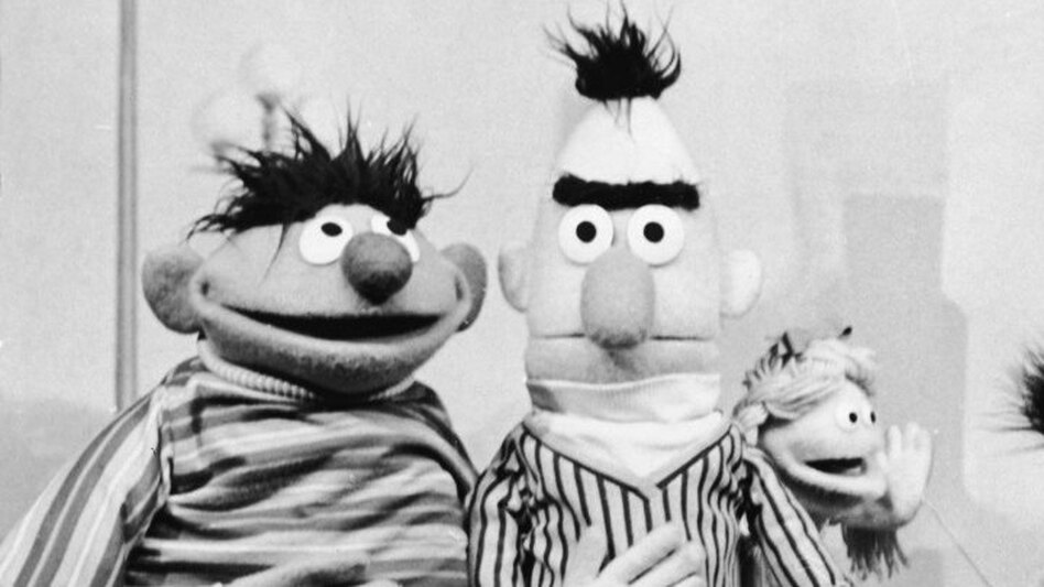 <strong>Best Buds From Back In The Day: </strong>Ernie and Bert on the set of <em>Sesame Street</em> in 1970, the year after it premiered.