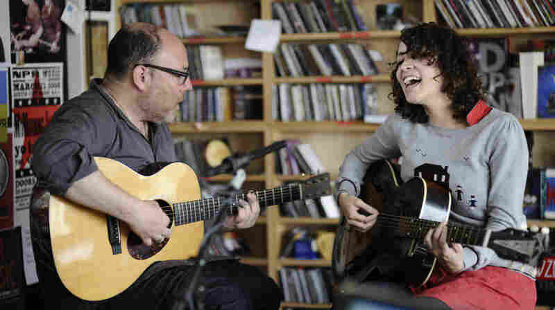 Gaby Moreno performs a Tiny Desk Concert at the NPR Music offices..