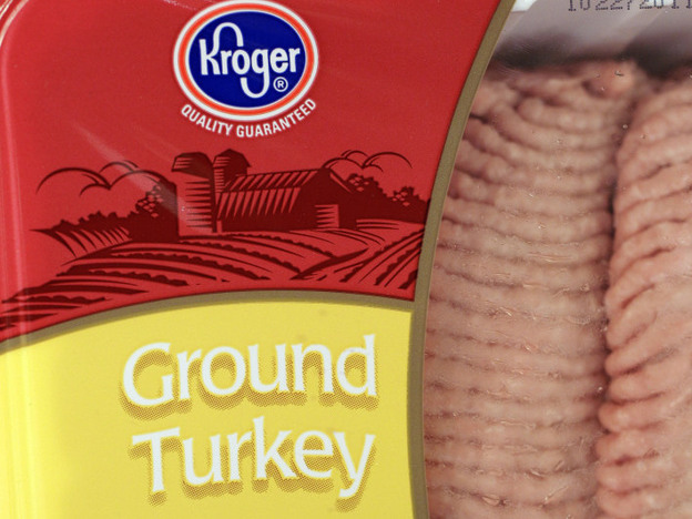 Ground turkey packages like this one are part of a nationwide recall and are blamed for sickening 107 people so far. (ASSOCIATED PRESS)