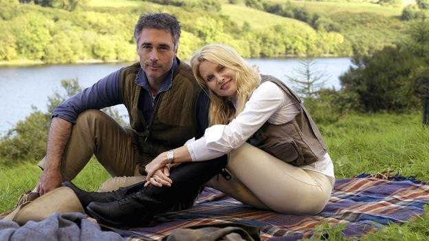 Greg Wise and Nicollette Sheridan star in Hallmark's Honeymoon For One. (Hallmark Channel)