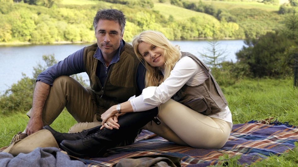 Greg Wise and Nicollette Sheridan star in Hallmark's <em>Honeymoon For One</em>.