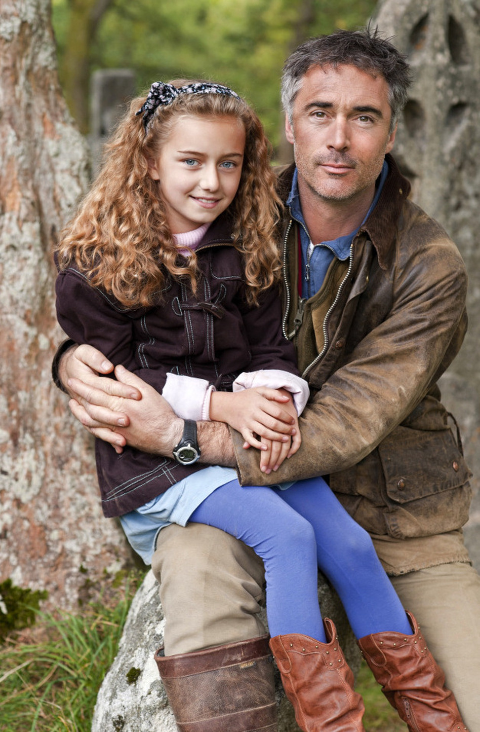 Could you say no to this moppet (Katie Bannon) and her father (Greg Wise)? (Hallmark Channel)