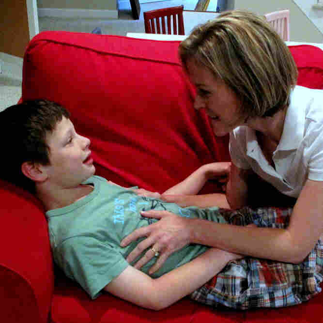Judith Ursitti is a Massachusetts mother of  two children with autism spectrum disorders. Her son, Jack, 7, has severe autism, while her daughter, Amy (not pictured), who is 11, has  Asperger's.