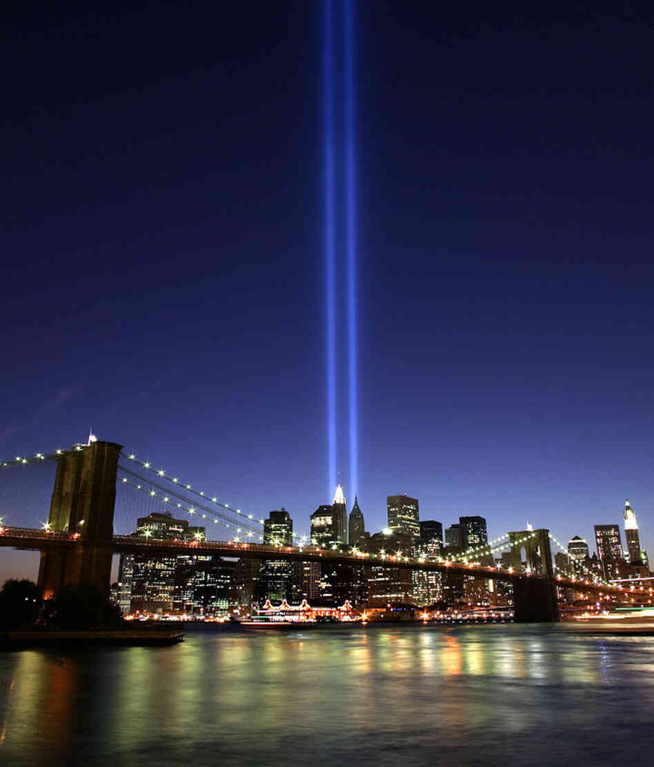 "The ""Tribute in Light"" interim memorial to the World Trade  Center twin towers was first lit six months to the day after the Sept. 11 terrorist attacks. In The Submission, Amy Waldman imagines the controversy surrounding a fictional memorial to the attacks."
