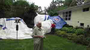 Runaway Blimp Crashes In Woman's Backyard
