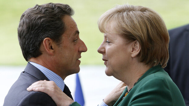 German Chancellor Angela Merkel and French President Nicolas Sarkozy met in Berlin last month for negotiations on the European debt crisis. They meet again on Tuesday in Paris in anothe