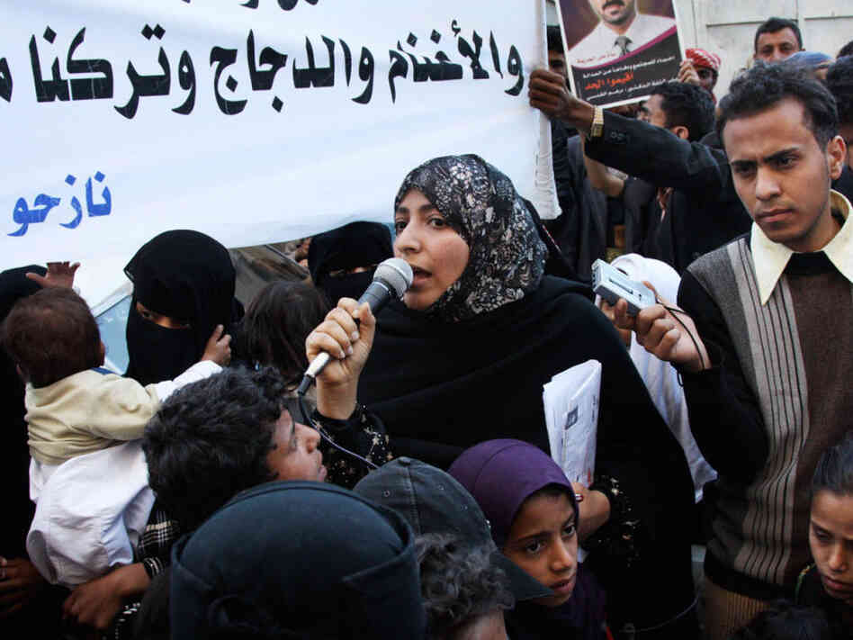 Tawakkol  Karman is a leader of the anti-government protest movement in Yemen. She has received death threats during her career as an activist but remains committed to bringing democracy to her country.