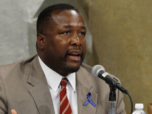 Wendell Pierce, seen here at a Department Of Justice panel discussion in May, spoke through his Twitter account yesterday about the film The Help.