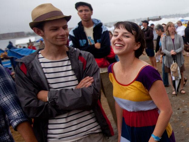 Fans enjoy the 2011 Newport Jazz Festival.