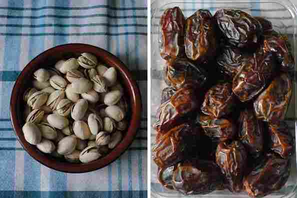 Pistachios and dates