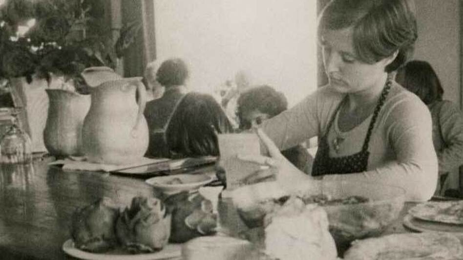 Alice Waters opened Chez Panisse in a house in Berkeley, Calif., in 1971. In the earliest days of the restaurant, Waters wore a variety of hats: chef, menu planner, CEO and waitress. (Courtesy Alice Waters)