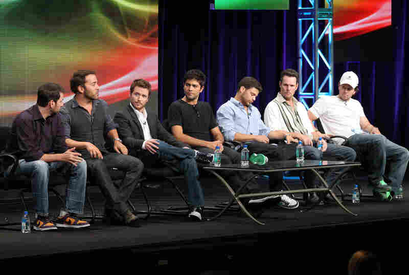 "What was amazing about this Entourage panel was that in addition to executive producer Doug Ellin and the cast — including Jeremy Piven, Kevin Connolly, Adrian Grenier, Jerry Ferrara and Kevin Dillon, that's producer Mark Wahlberg — you know, the Oscar nominee — in the white cap at the end of the row. Several of us in the room had a moment of thinking, ""Oh, THAT'S who that is under that ..."