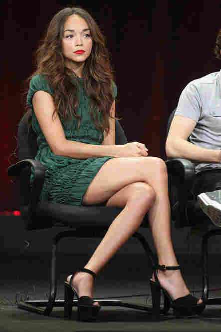 But of all the tall shoes, I believe that these — worn by Ashley Madekwe of ABC's Revenge — were the ones that impressed me the most.