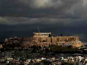 Where Antiquity And Modern Life Collide: The Acropolis rises above Athens, Greece, the city at the center of writer Petros Markaris' Inspector Costas Haritos crime series. While many view Athens as the birthplace of democracy, Markaris says that to him the city also showcases the uglier side of modern society.