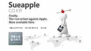 "The law firm handling a new suit seeking damages for Apple's location tracking gathered plaintiffs at a website called""sue apple,"" seen here in a screengrab."