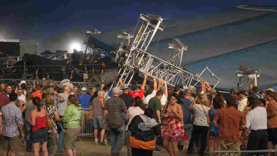 The stage that collapsed under high winds at the Indiana Stage Fair on August 13 killed five people and injured more than 40. The disaster has prompted inquiries into who is responsible for the integrity of temporary stages.