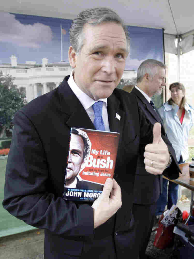 President Bush impersonator, John Morgan, October 2008.