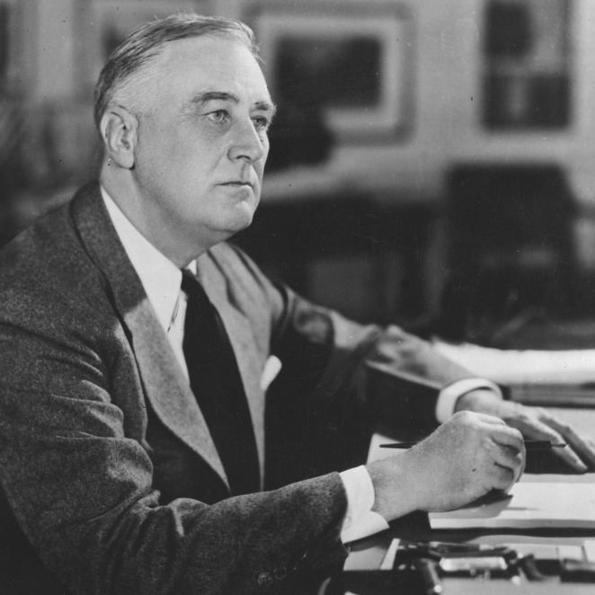 "According to Nassir Ghaemi, Franklin D. Roosevelt is one of several World War II leaders who seem to have been mentally ill or ""abnormal."""