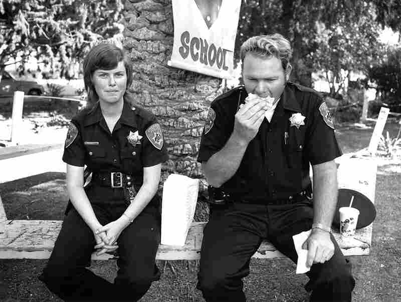 "Untitled (two police officers having lunch), from the ""Temporary Organizations"" series, circa 1975"