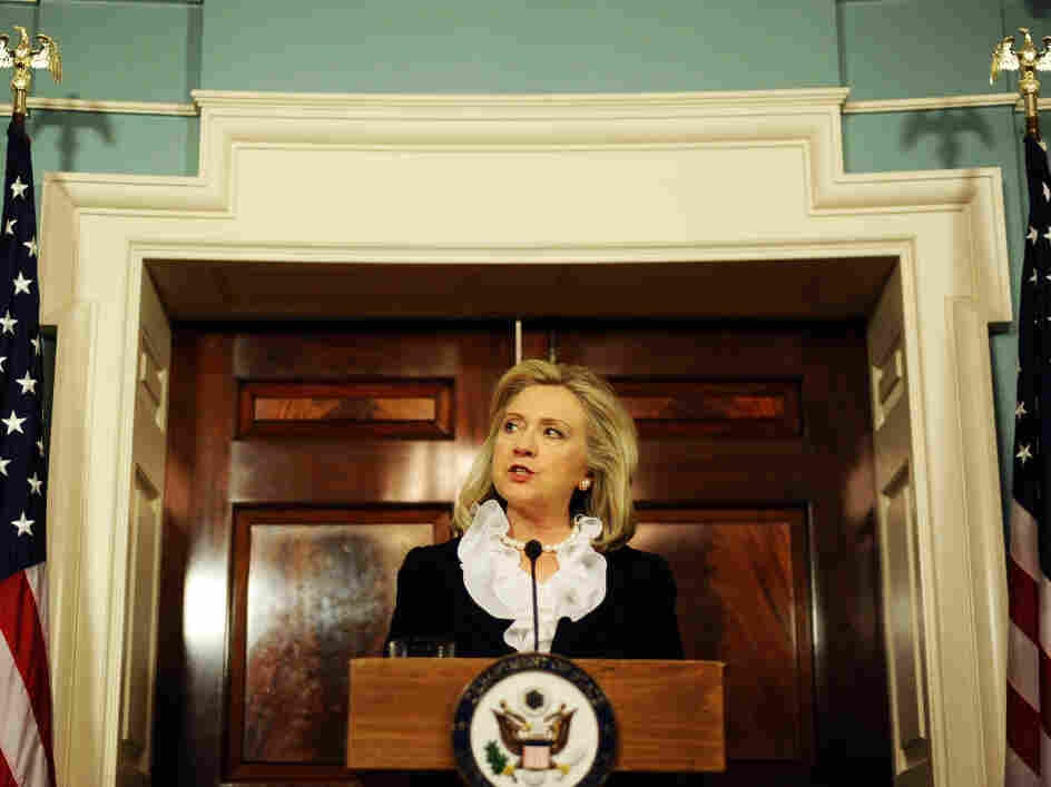 Secretary of State Hillary Clinton said Thursday at the State Department that the U.S