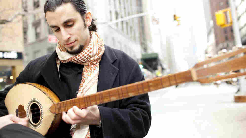 Tareq Abboushi leads the New York band Shusmo with his buzuq, a kind of Middle Eastern lute.