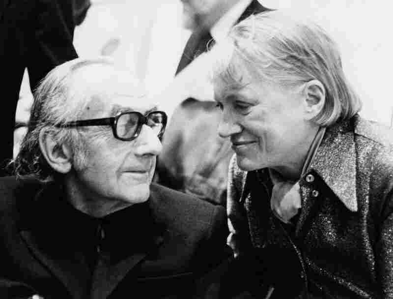 The couple's devastating breakup in 1932 inspired some of their most famous works of art. But Man Ray and Lee Miller reconciled in 1937 and stayed close for the rest of their lives. They are pictured together in London in 1975.
