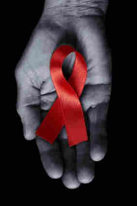 An HIV/AIDS awareness ribbon.